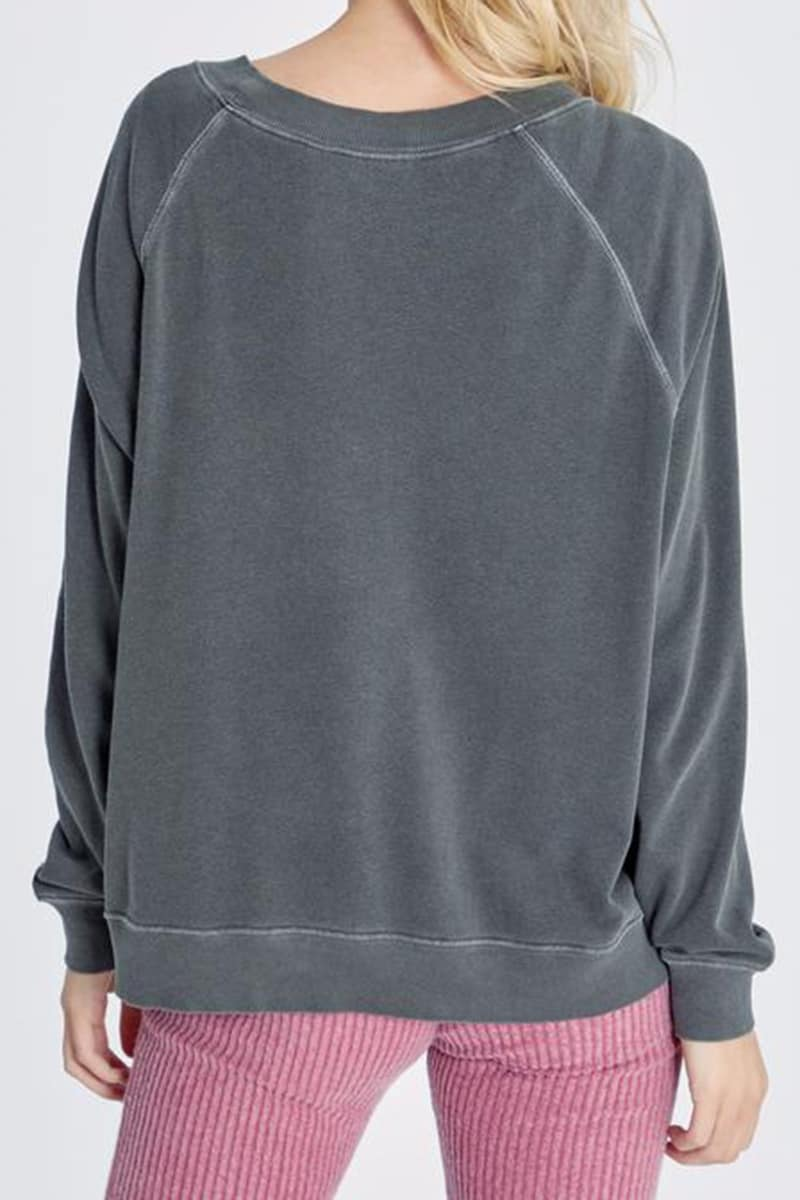 Wildfox 100 Cotton Easy Does It Sommers Sweatshirt 75458