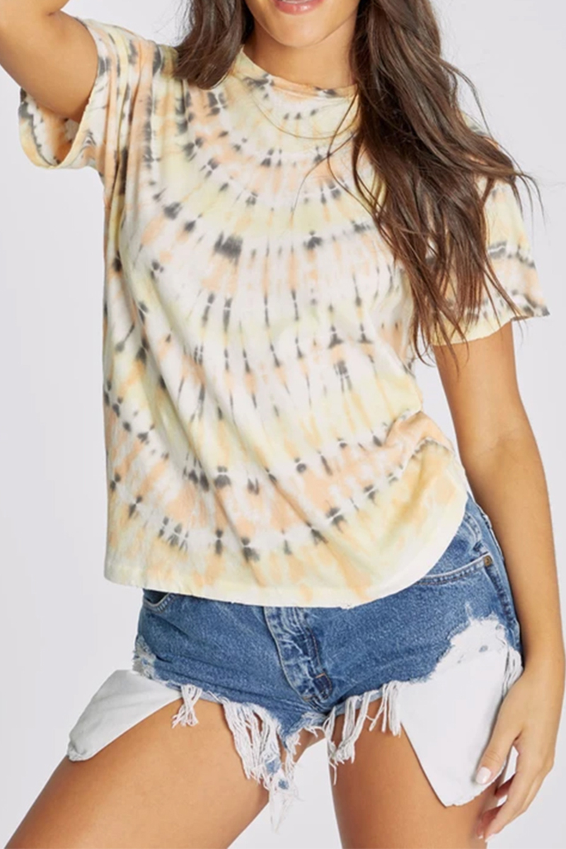 wildfox 100 cotton keke citrus wash tee 82190