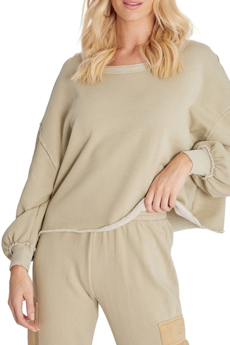 Wildfox Olivia Sweatshirt In Basil 79850