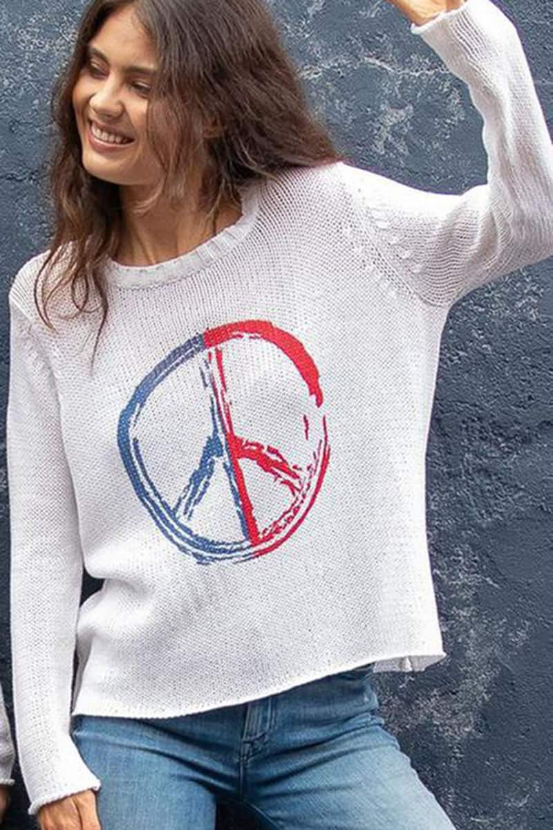 wooden ships american peace sign top 84239