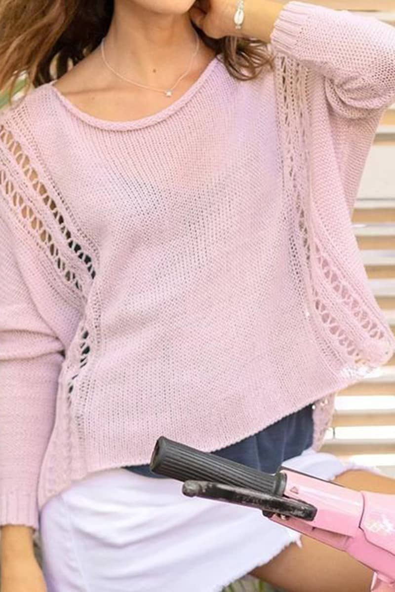 Wooden Ships Boho Crew In Pale Orchid 67953