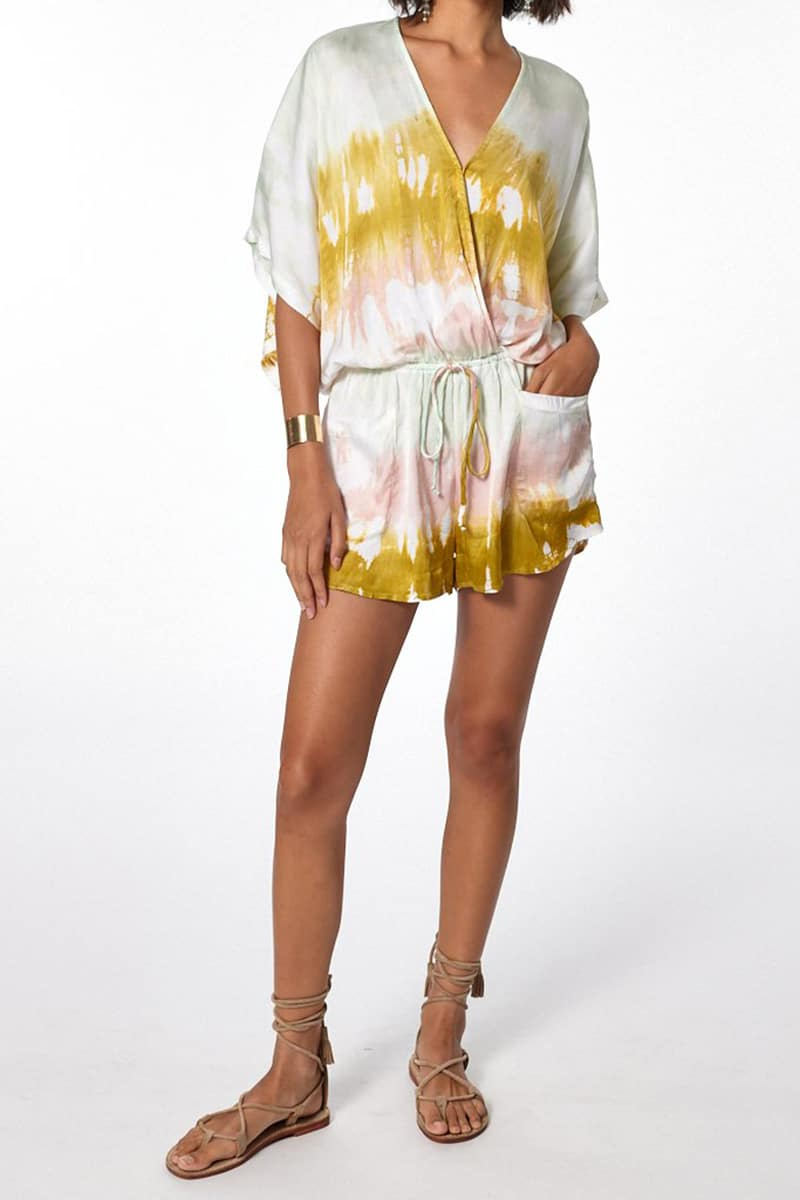 Young Fabulous Broke Ashby Romper In Geode Wash 81262
