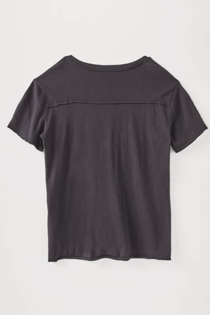 Z Supply 100 Cotton Easy Vneck Haylee Tee In Black 71285