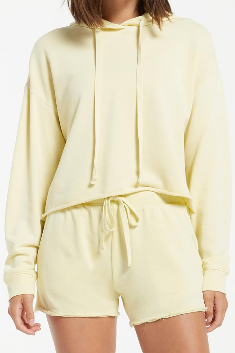 z supply 100 cotton gia washed hoodie in key lime 82491
