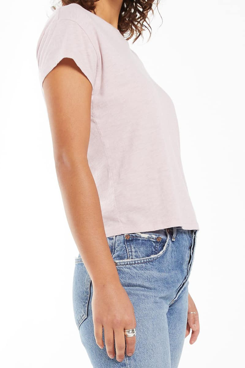 z supply 100 cotton modern tee in soft lilac 84753