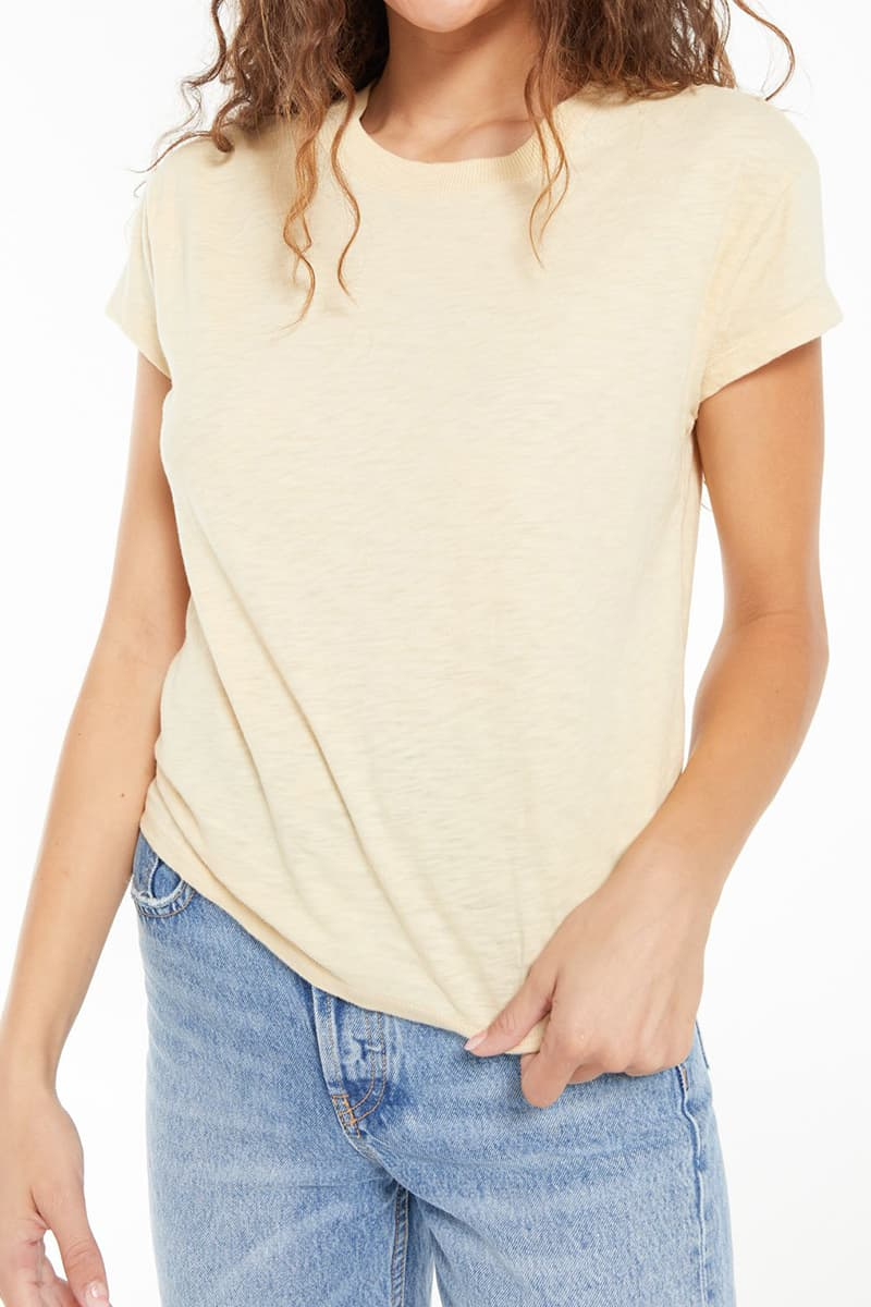 z supply 100 cotton modern tee in washed yellow 84754