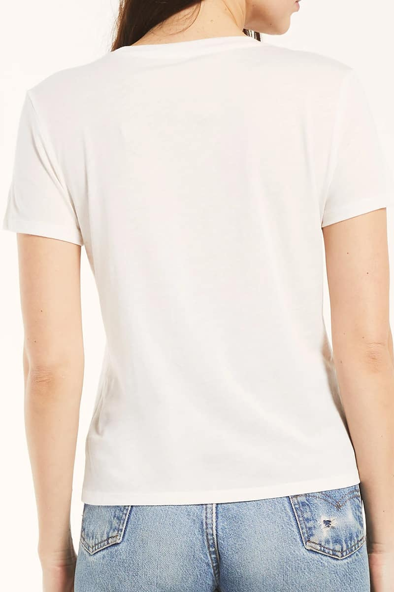Z Supply 100 Cotton Pima Tee In White 73069