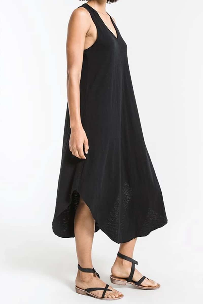 Z Supply 100 Cotton Reverie Dress In Black 69575