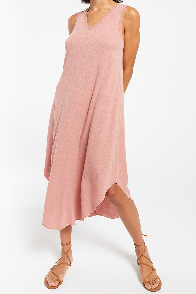 Z Supply 100 Cotton Reverie Dress In Wild Rose 81487