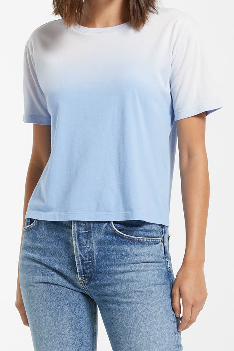 z supply 100 cotton sol ombre cool blue tee 84746