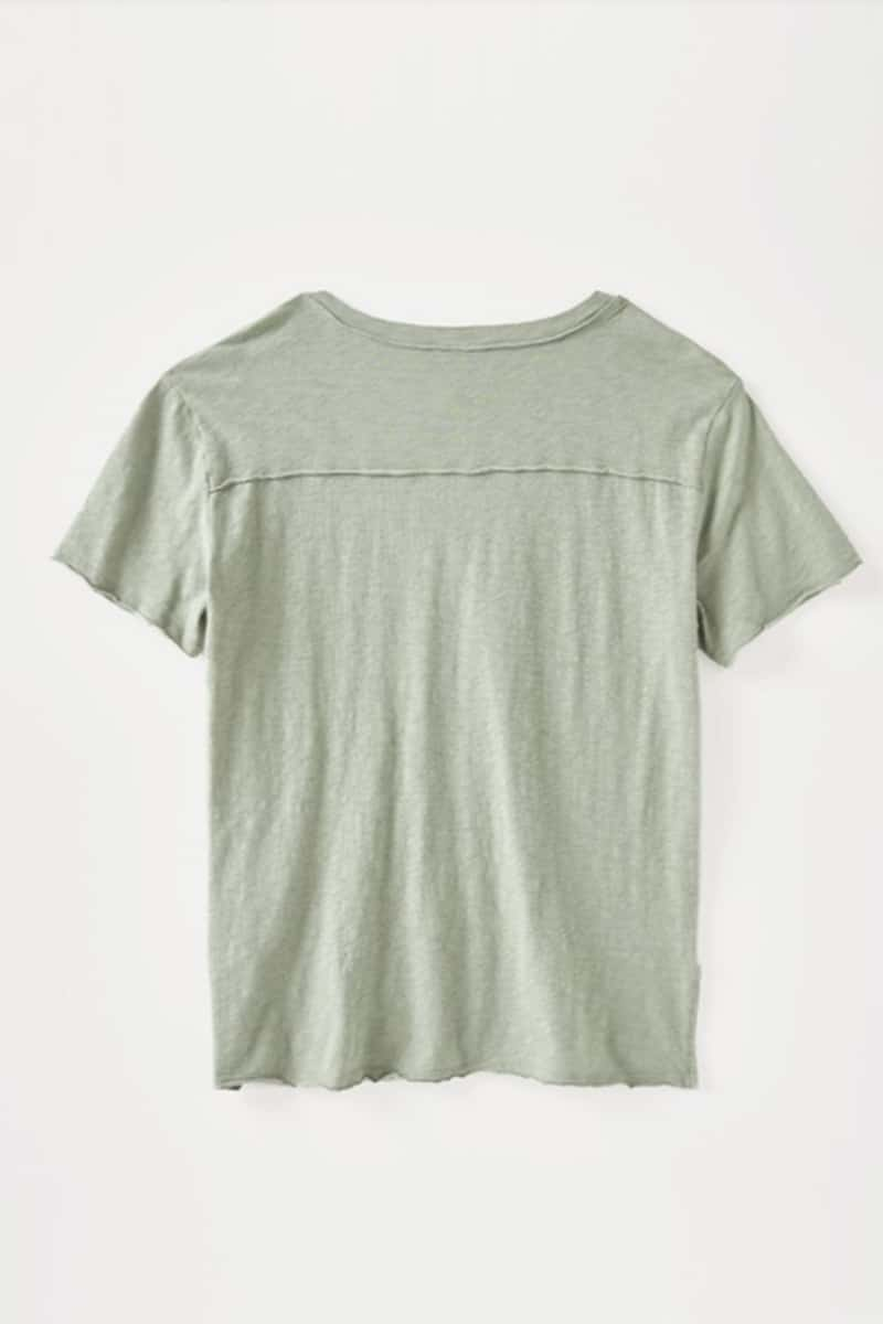 Z Supply 100 Slub Cotton Easy Vneck Haylee Tee In Lily Pad 71287