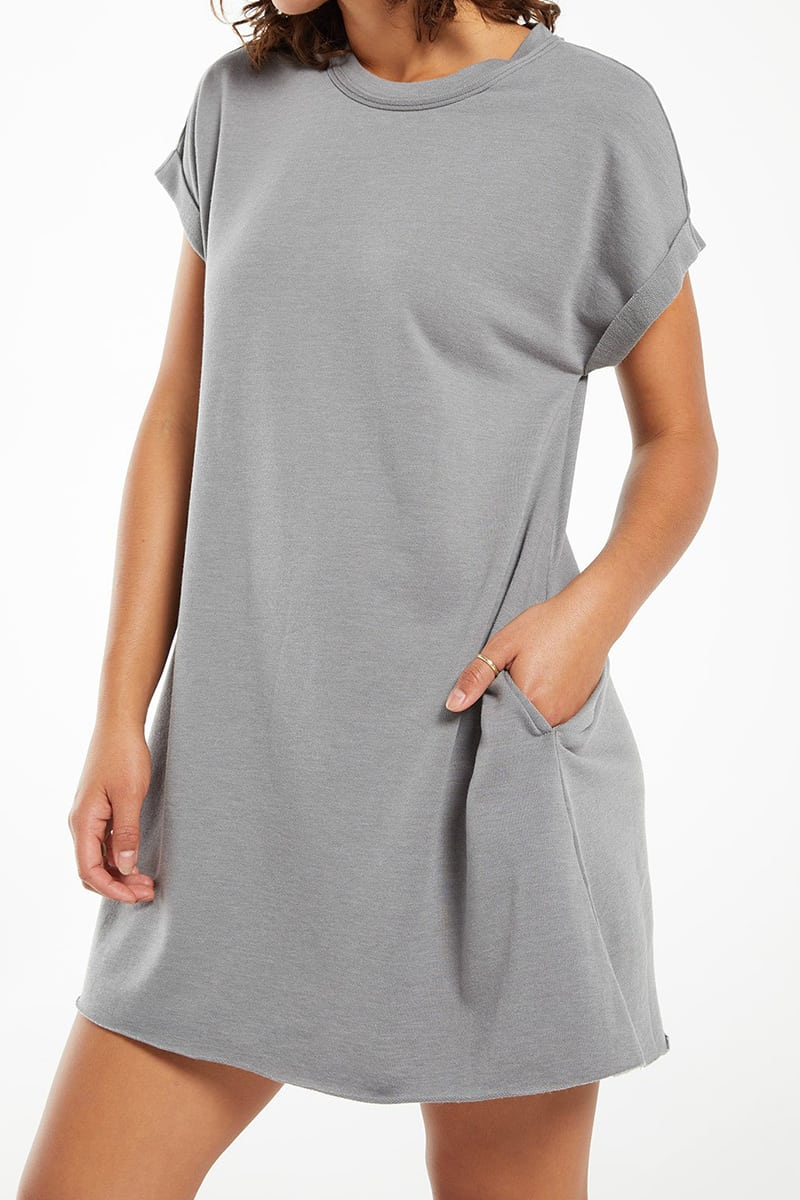 z supply agnes terry dress in sedona sage 86670