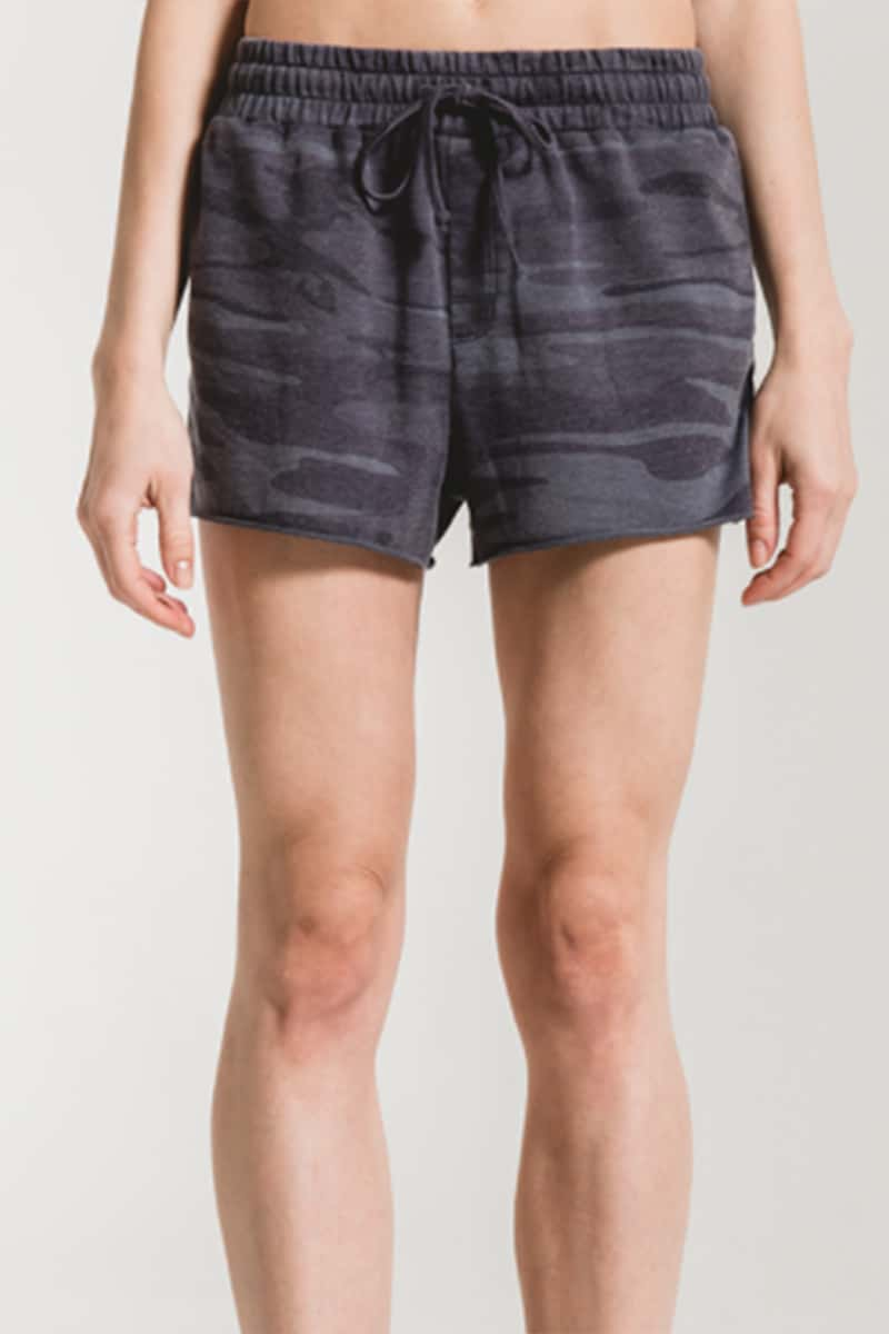 Z Supply Camo Sporty Shorts In Blue 71290