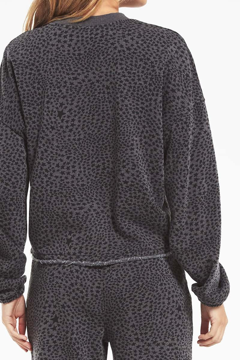 Z Supply Cruise Stardust Sweatshirt In Charcoal 75587