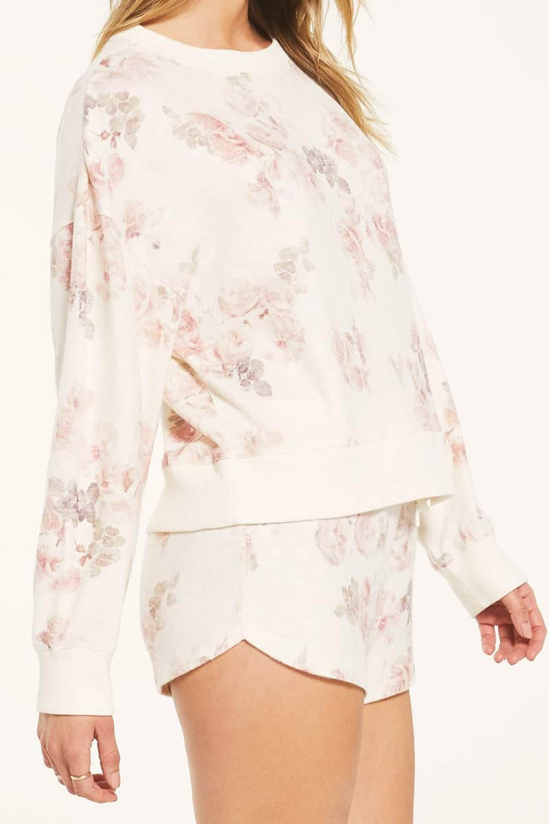 Z Supply Elle Floral Ls Top 73338
