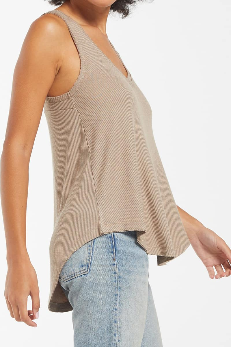 Z Supply Hacci Vagabond Tank Top In Taupe 79702