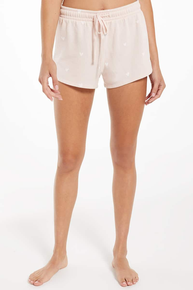 Z Supply Lovers Fleece Short In Rose Quartz 81009