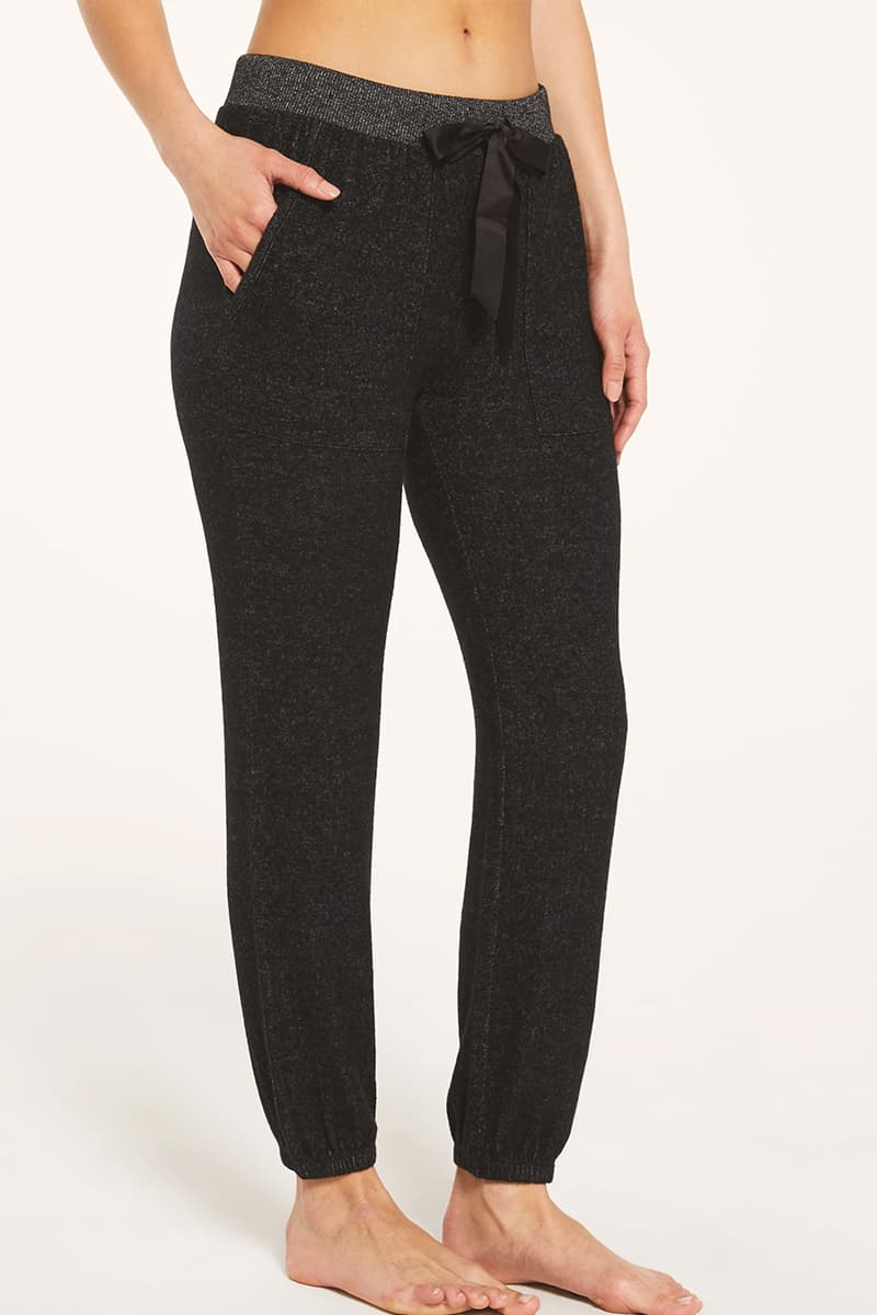 Z Supply Marled Jogger In Heather Black 73141