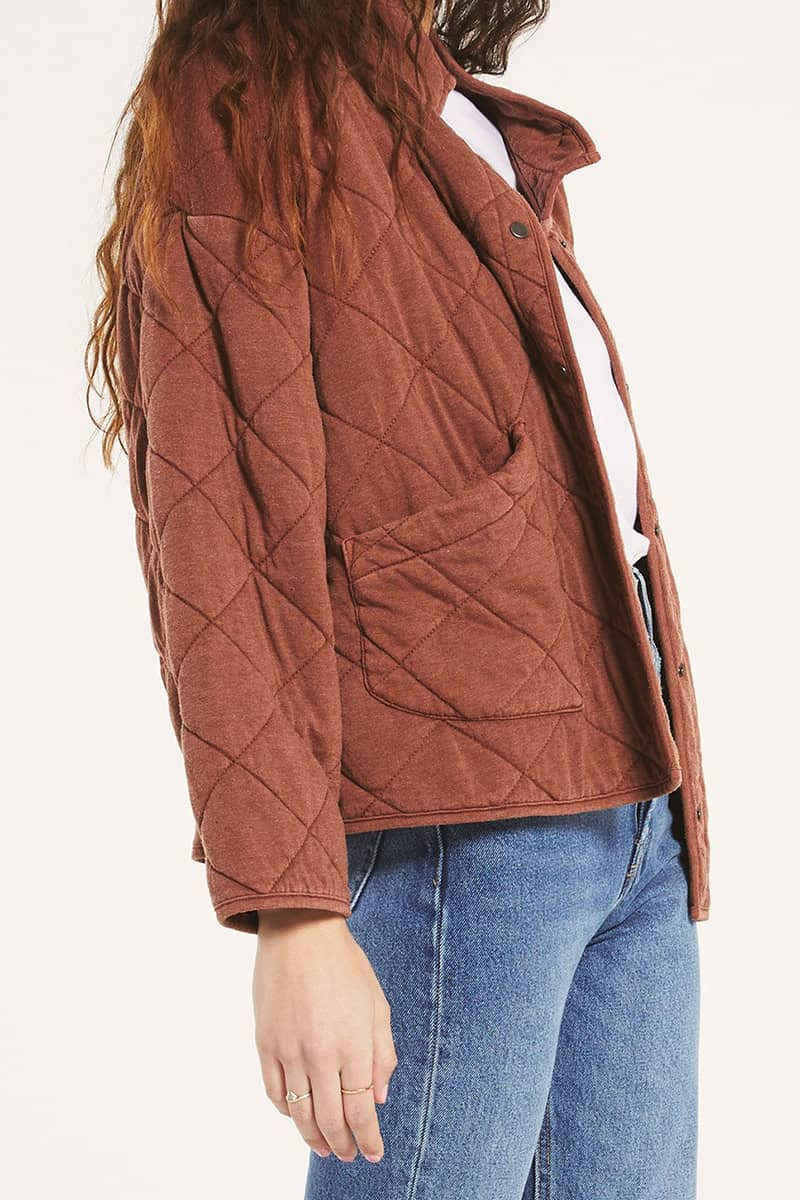 Z Supply Maya Quilted Jacket In Whiskey 73073