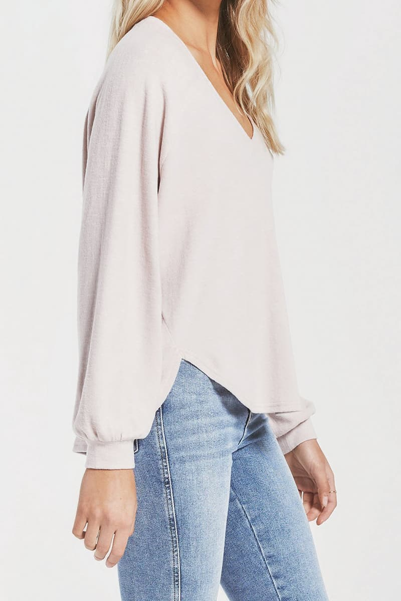 Z Supply Plira Slub Top In Ash Pink 73066