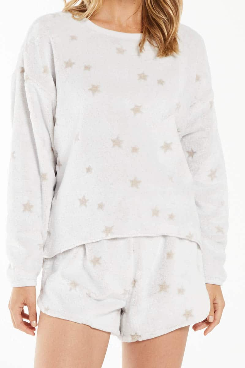 z supply plush star lstop in frosted latte 96695