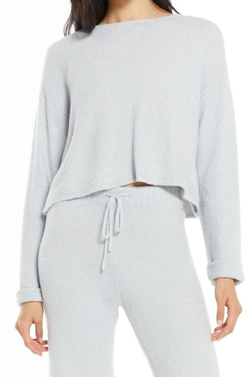 z supply ruby cozy top in platinum 94231