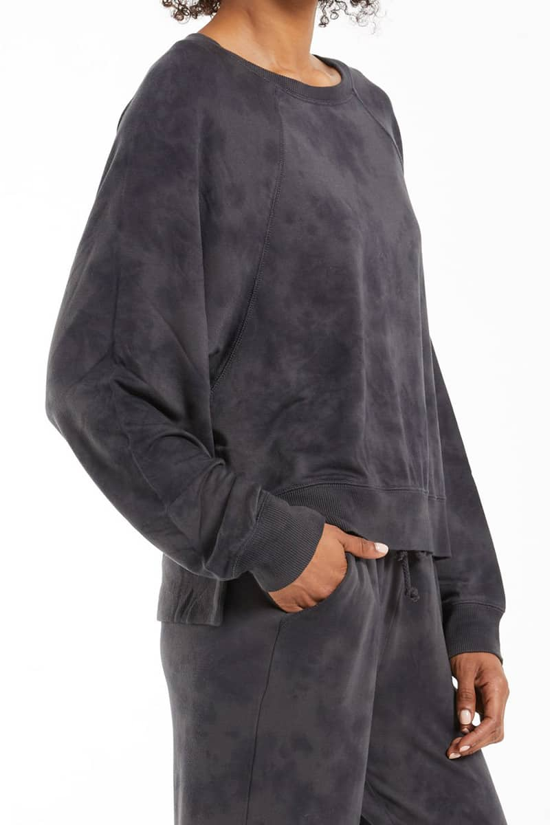 z supply sleep over tie dye in washed black 94228