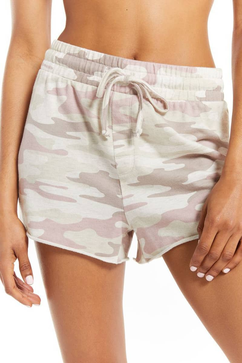 Z Supply Sporty Short In Camo Mauve 81612