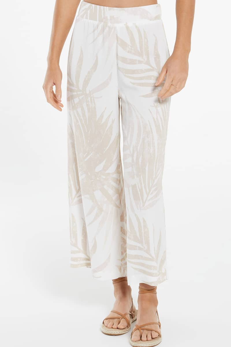 z supply tidepool flared pant in white 84751