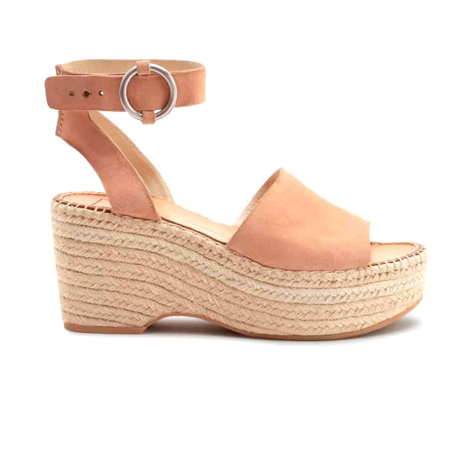 Dolce Vita Lesly Rose Rope Wedge Sandal Cotton Island