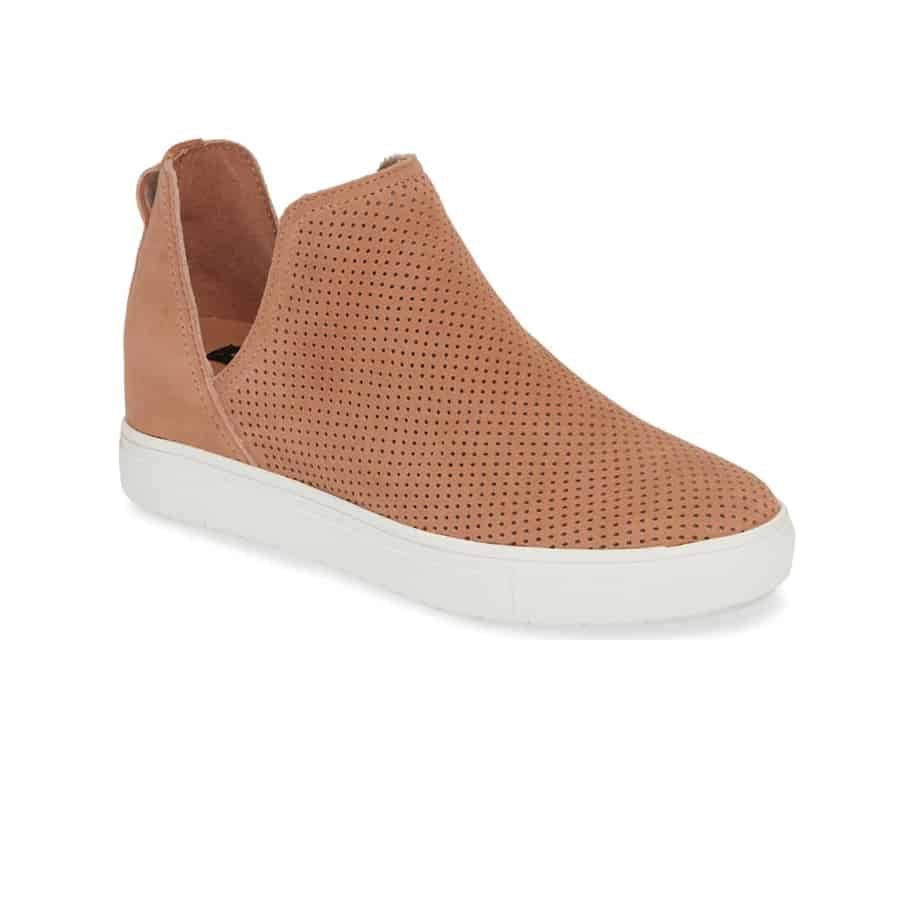 Steven by Steve Madden Canares P Suede Wedge in Nude